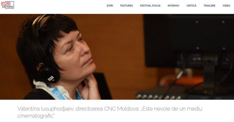"""""""Este nevoie de un mediu cinematografic""""       INTERVIU cu directorul CNC, Valentina Iusuphodjaev"""